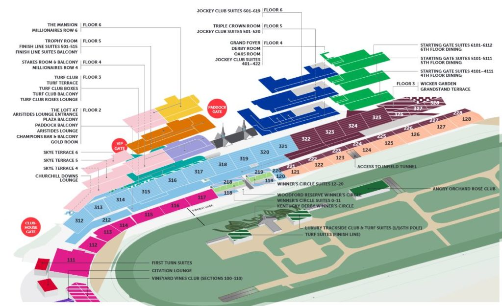 The Kentucky Derby Seating Guide TicketCity Insider