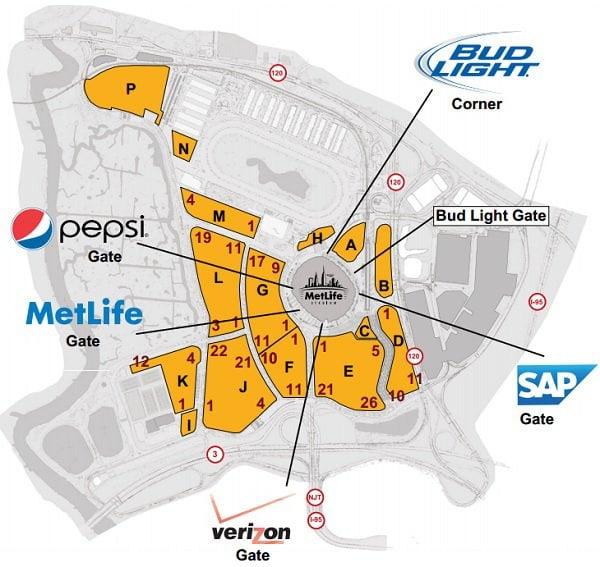 New York Giants  Jets Seating Chart Metlife Stadium Seat Views