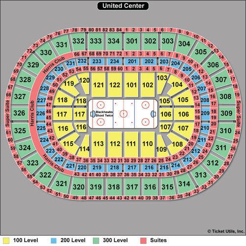 United Center Seating Chart Blackhawks, Bulls  Concerts TickPick