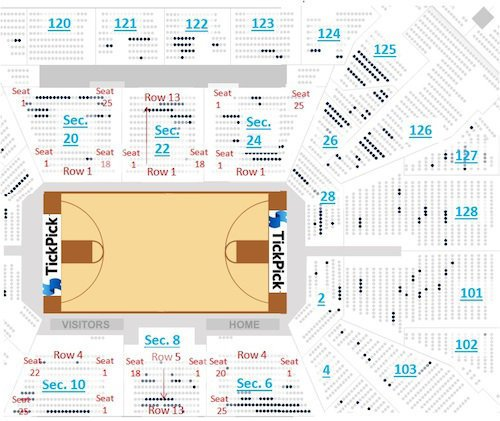 San Antonio Spurs Seating ChartATT Center TickPick