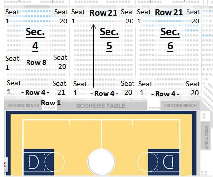 Indiana Pacers Seating Chart Bankers Life Fieldhouse TickPick