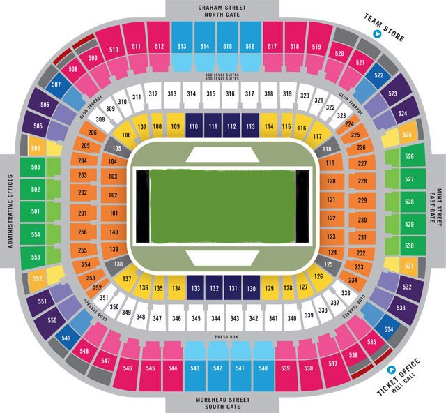 Carolina Panthers Seating Chart Bank of America Stadium Seat Views