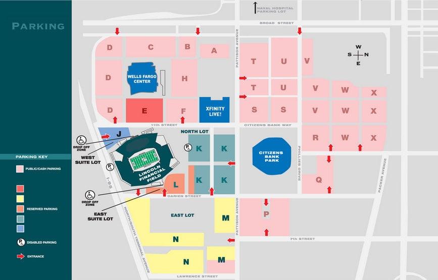 Philadelphia Eagles Seating Chart Lincoln Financial Stadium Seat