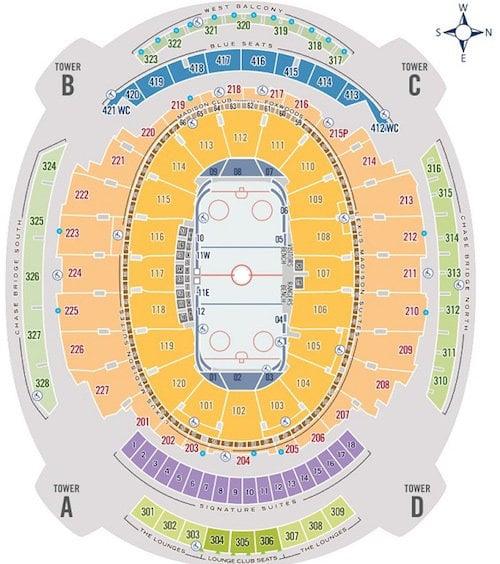 New York Knicks  New York Rangers Seating Chart Madison Square
