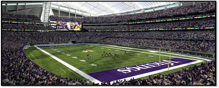 US Bank Stadium Seating Chart New Vikings Stadium Guide TickPick