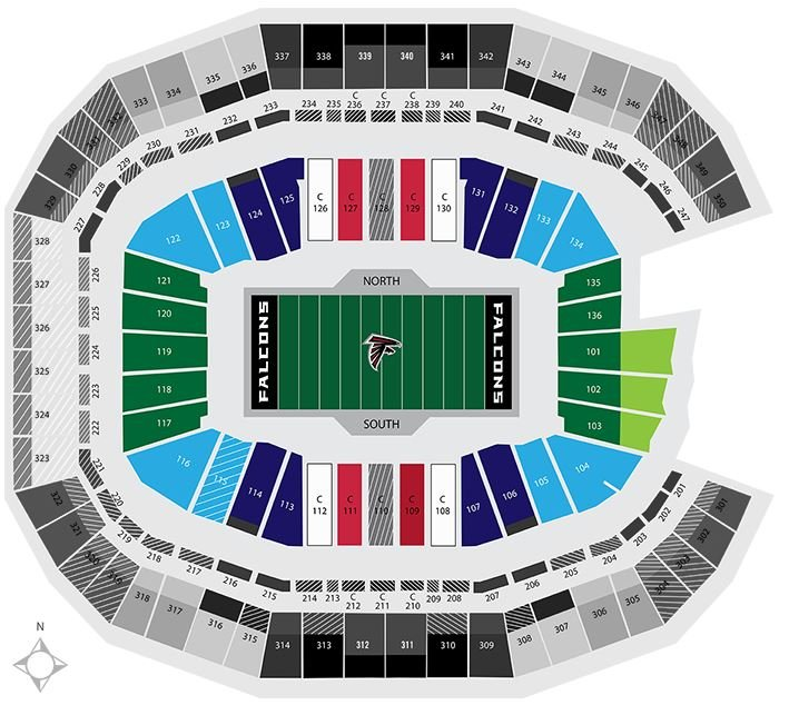 Mercedes-Benz Stadium Seating Chart Atlanta Falcons TickPick