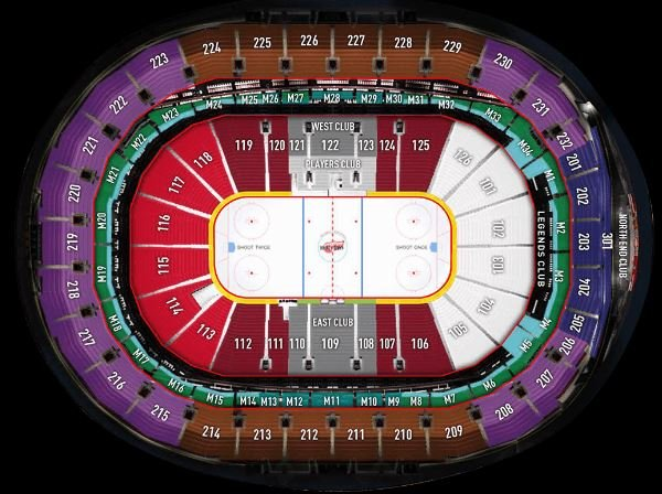 Little Caesars Arena Seating Chart Detroit Pistons  Red Wings