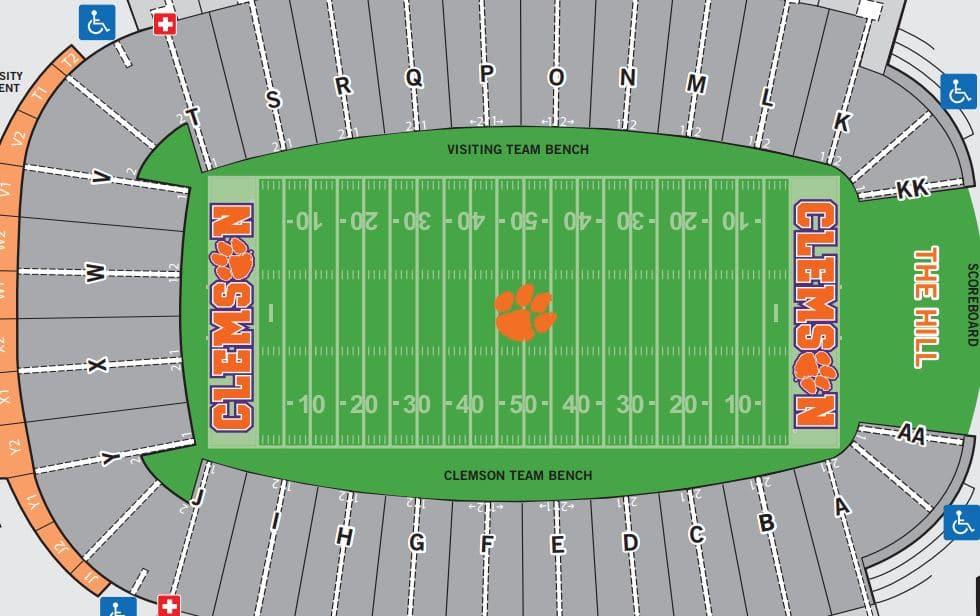 Clemson Tigers Football Seating Chart Seat Views TickPick