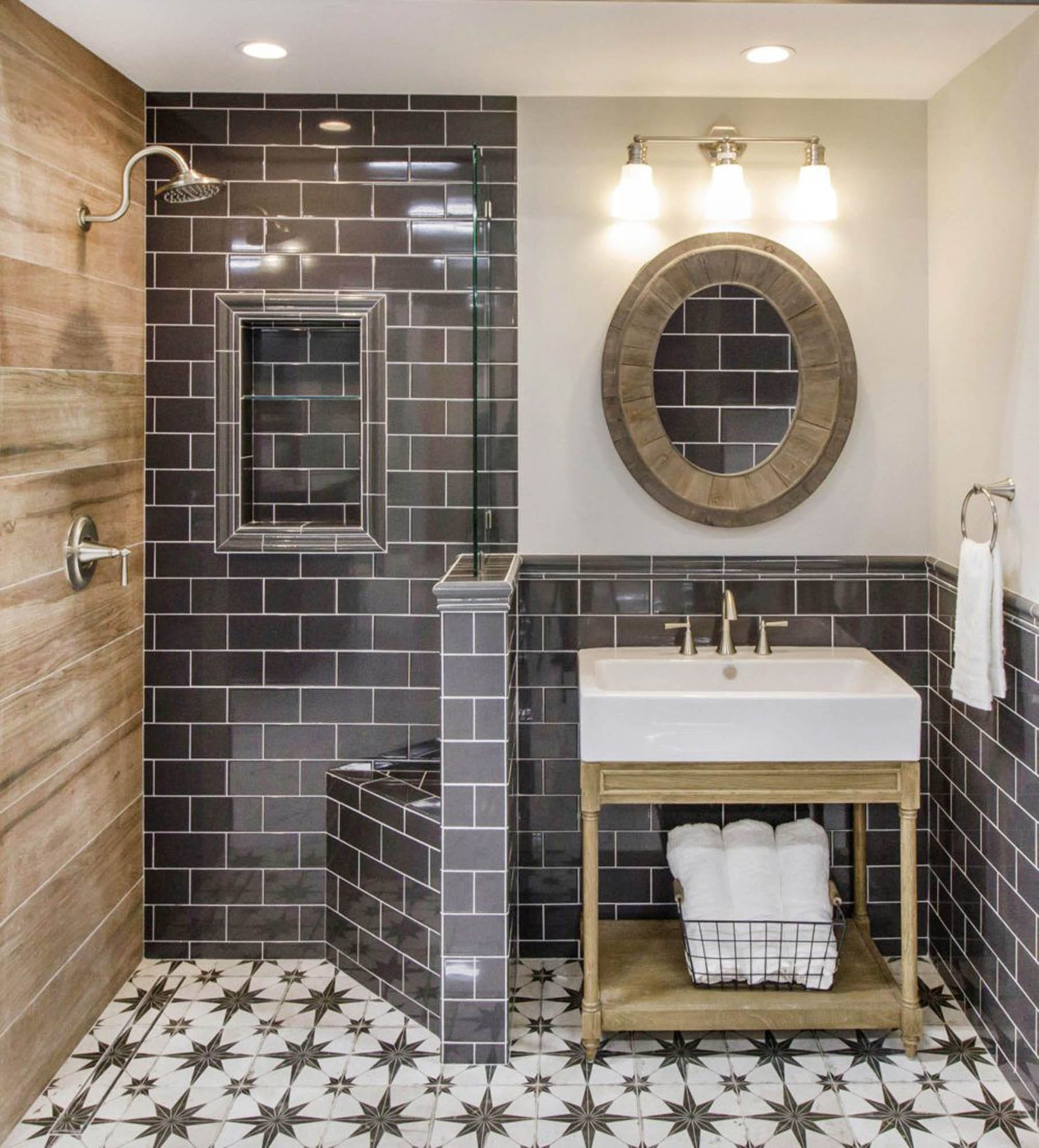 Wood Looking Tile Bathroom How To Achieve Modern Farmhouse Design With Tile The Tile Shop Blog