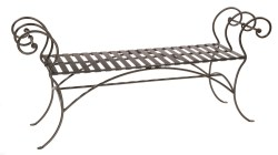 Small Of Wrought Iron Bench