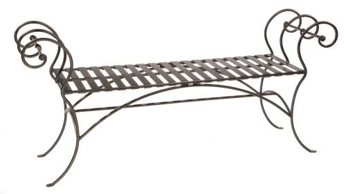 Medium Of Wrought Iron Bench