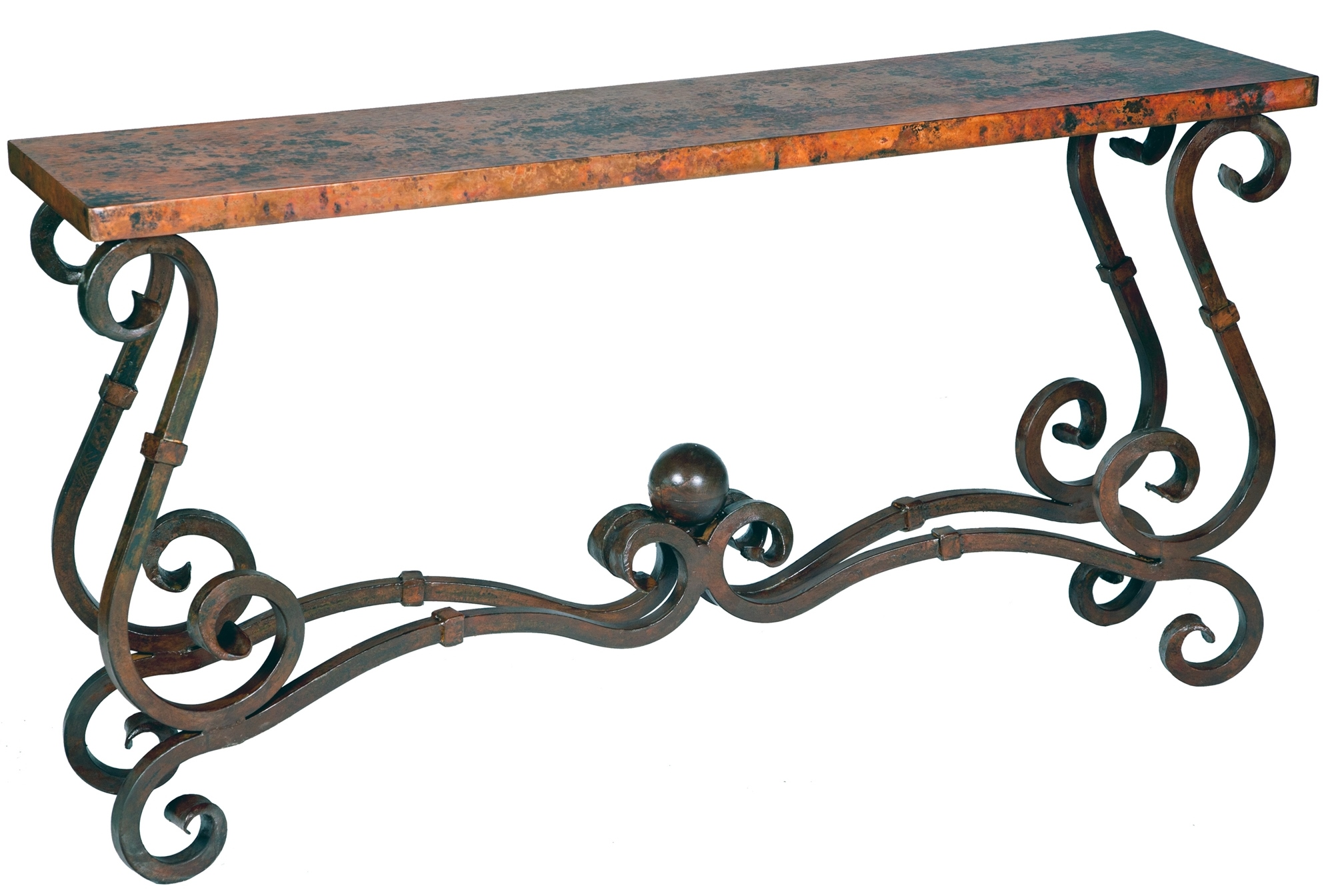 Wrought Iron And Wood End Tables Stunning Copper And Wrought Iron Furniture By Prima