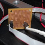 top of protoboard for female to female cable adapter