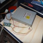 stripped usb enclosure guts. I tossed the built-in power supply and substituted the molex plug