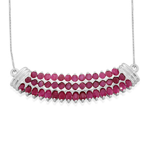 Burmese Ruby (Ovl) Necklace