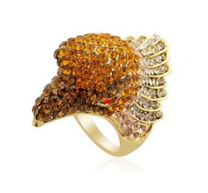 Creature Couture Multi Colour Austrian Crystal Eagle Ring