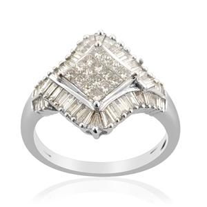 ILIANA Diamond (1.27 Ct) 18K W Gold Ring