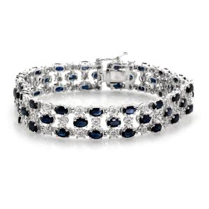 This beautiful diamond and sapphire bracelet will definitely get you into the good books