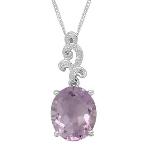 Pretty and precious rose amethyst pendant