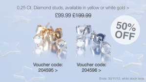 Diamond studs - white gold or yellow gold