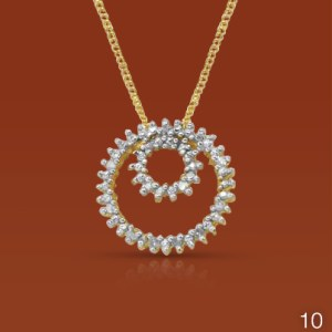 Diamond circle of life pendant and chain