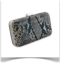 Snake Clutch Bag (Black)