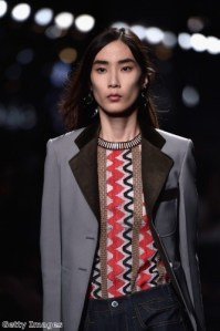 Louis Vuitton featured wide lapels in its SS15 collection