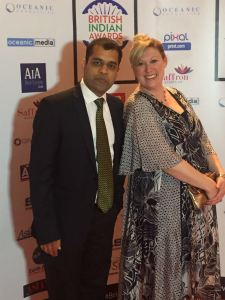 Amit and Faye Arrive at British Indian Awards