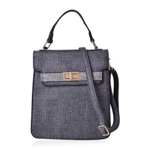 Black and Grey Crossbody Bag
