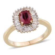 Iliana AAAA Rubelite & Diamond Ring