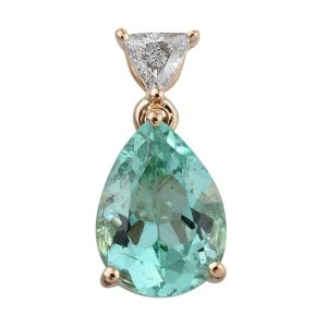 Iliana Colombian Emerald and Diamond Pendant
