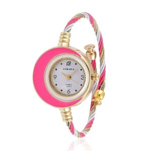 strada-japanese-movement-white-dial-water-resistant-pink-colour-bangle-watch-in-gold-tone-with-stainless-steel-back