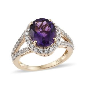 purple and gold ring