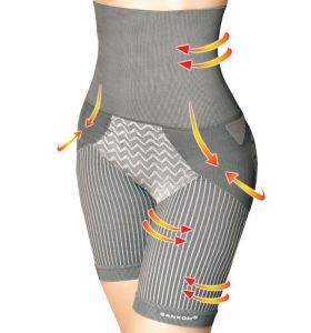 Bamboo fibers Posture Correction Shapers Shorts - Grey