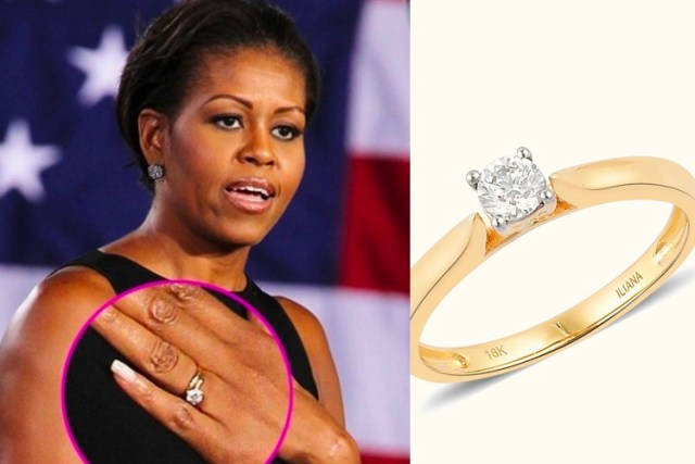 Michelle Obama engagement ring on TJC