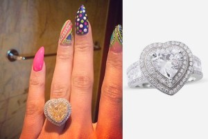 Nicki Minaj Engagement ring on TJC