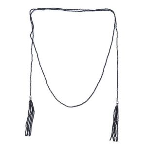 Designer Inspired-Boi Ploi Black Spinel (Rnd) Endless Necklace