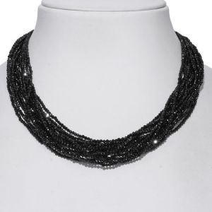 Boi Ploi Black Spinel (Rnd) Beads Necklace