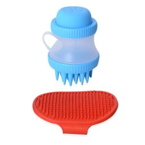 Pet Bath Shampoo Stoup and Brush Set