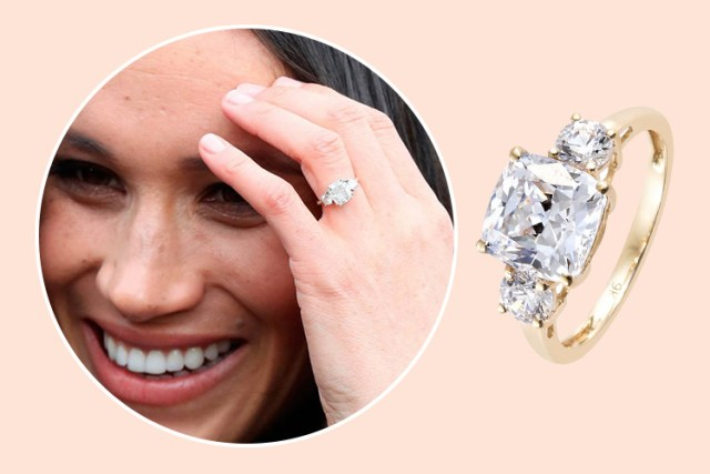 Meghan Markle's royal engagement ring design at TJC