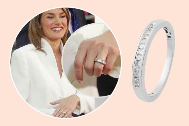 Queen Letizia's royal engagement ring design at TJC