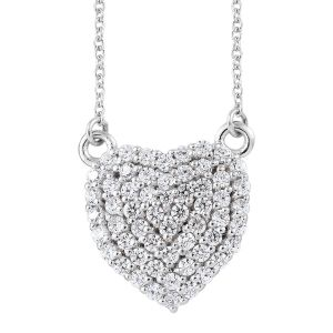 J Francis Made with SWAROVSKI ZIRCONIA Cluster Heart Necklace