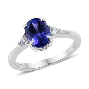 RHAPSODY Tanzanite and Diamond Ring in 950 Platinum