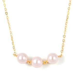 Japanese Akoya Pearl Necklace (Size 18) in Yellow Gold Overlay Sterling Silver