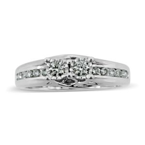 0.50 Carat Diamond Half Eternity Ring in 10K White Gold