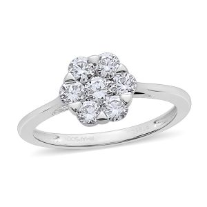 1 Carat Diamond Pressure set Floral Ring in 950 Platinum