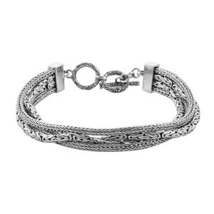 Royal Bali Borobudur Chain Bracelet in Sterling Silver