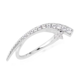 Isabella Twilight collection White Zircon Cycle of Moon Ring in Sterling Silver