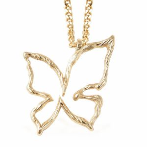 Isabella Butterfly Pendant With Chain in Sterling Silver