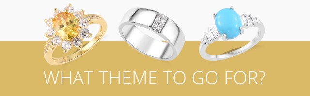 Buying engagement ring with a theme
